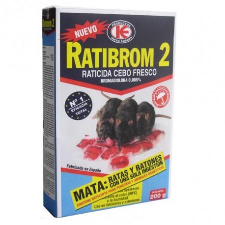 "RATICIDA ""RATIBROM-2"" CEBO FRESCO 200grs"