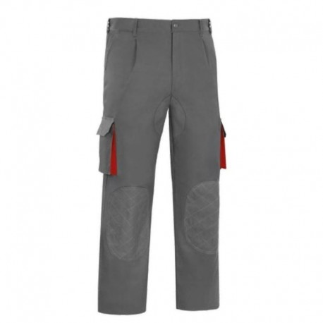 PANTALON MULTIBOLSILLO BICOLOR GRIS