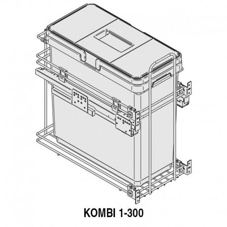 MÓDULO CUBO BASURA KOMBI M300 1x33L
