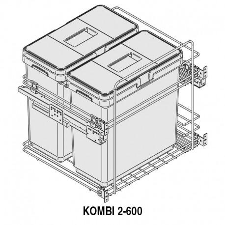 MÓDULO CUBO BASURA KOMBI M600 2x33L