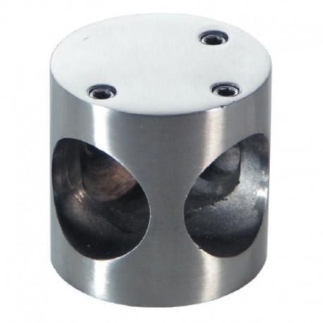 NUDO CONECT CABINE 3 POSICIONES TUBO 25mm INOX