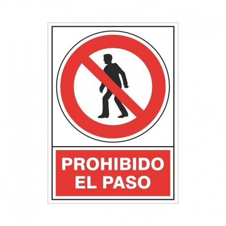 """SEÑAL 410 PLÁSTICO 490x345 PROHIBIDO EL PASO"""""""""""
