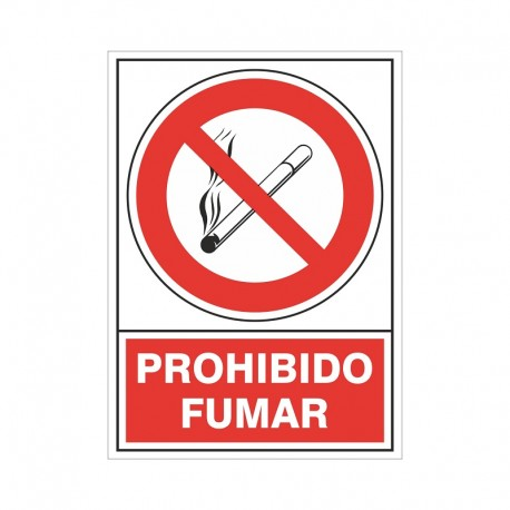 """SEÑAL 400 ADHESIVA 105x74 PROHIBIDO FUMAR"""""""""""