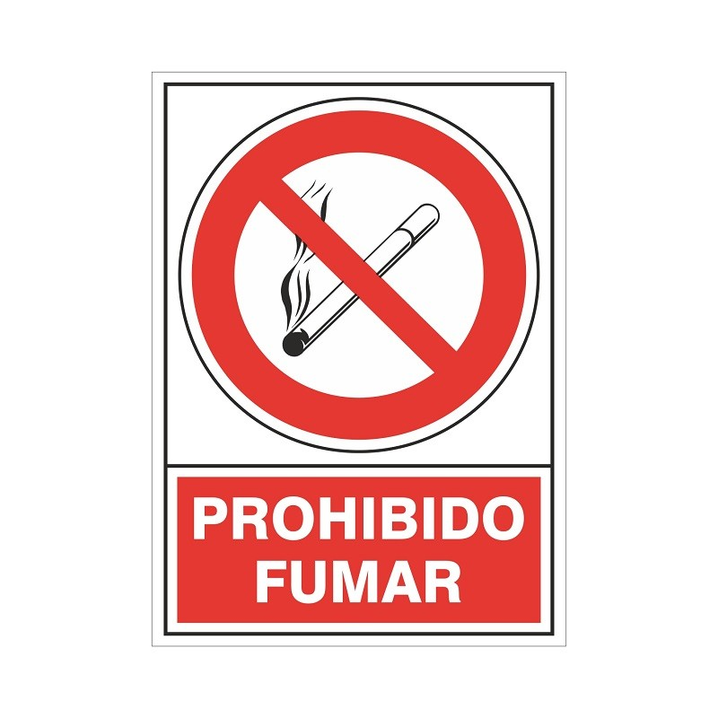 """SEÑAL 400 ADHESIVA 105x74 PROHIBIDO FUMAR"""""""