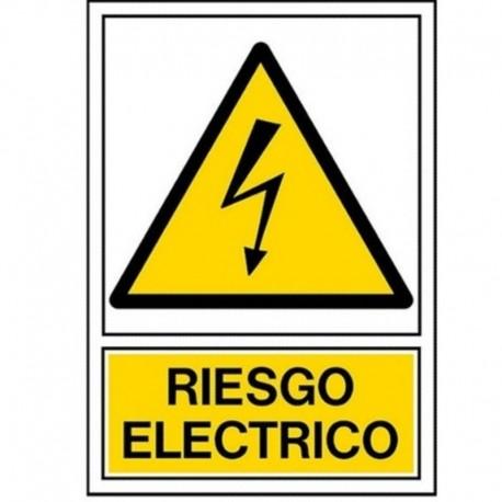 """PEGATINA 100x150mm RIESGO ELÉCTRICO"""""""""""